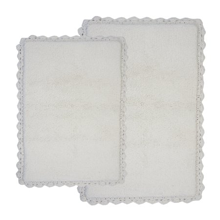 Chesapeake Merchandising Crochet Reversible 2-pc. Bath Rug Set