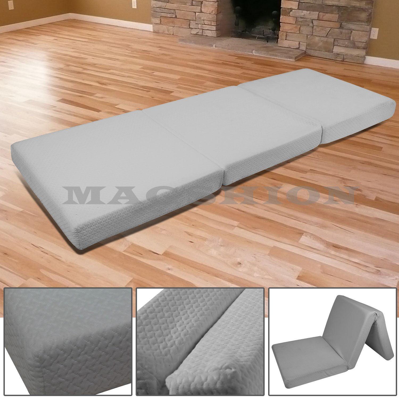 Magshion Memory Foam Mattresses Folding Bed Single 27'', Dark Grey
