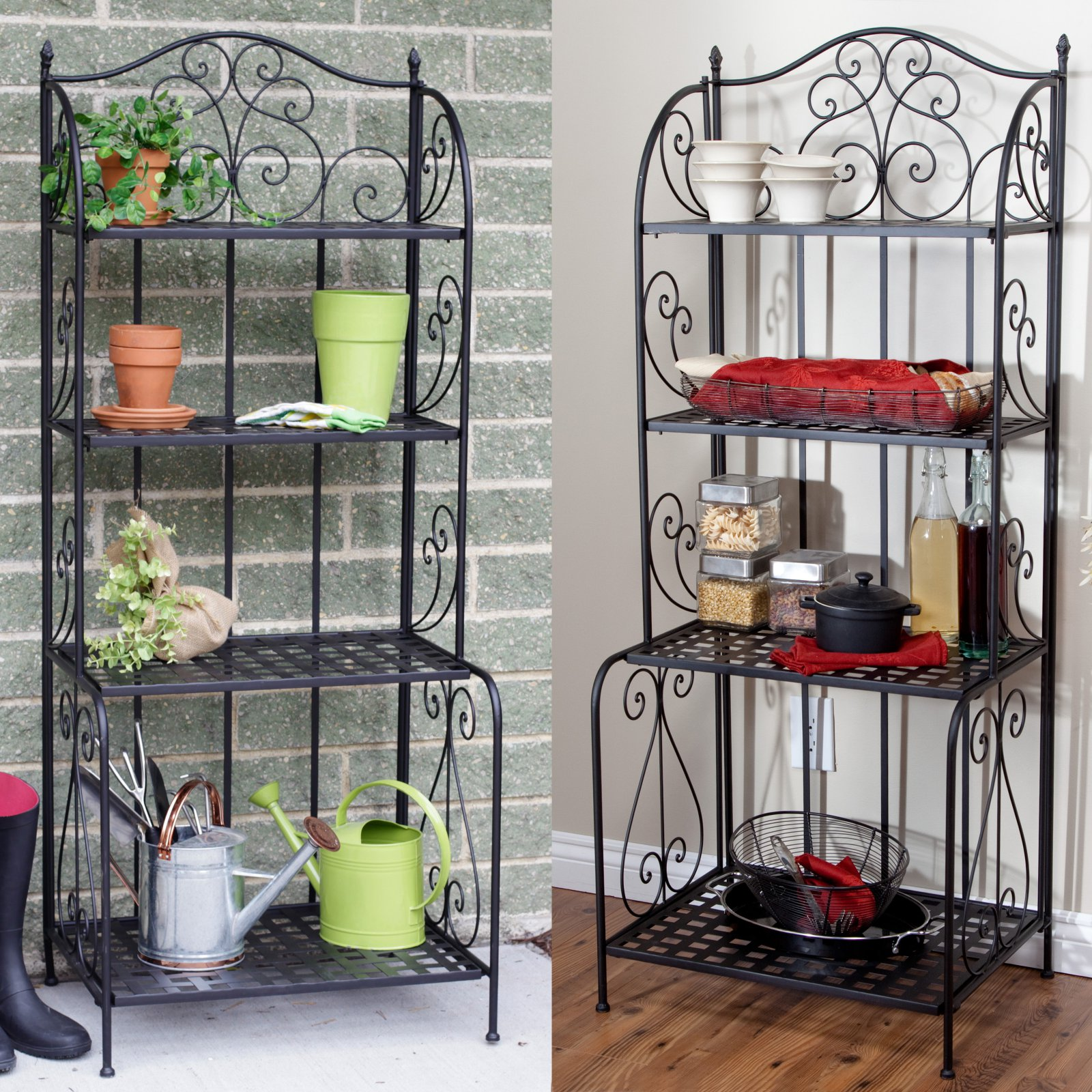 Brixton Indoor/Outdoor Folding Bakers Rack