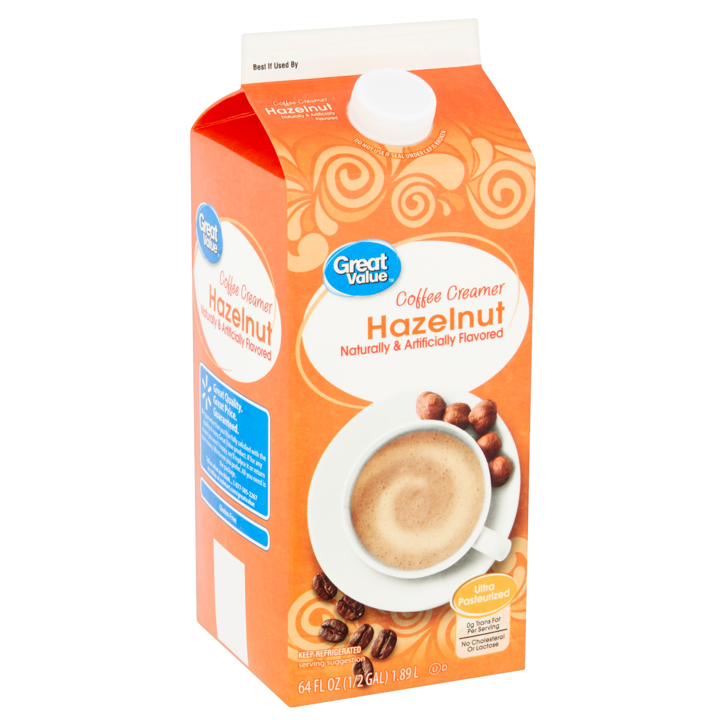 Great Value Hazelnut Coffee Creamer, 64 Fl Oz   Walmart.com