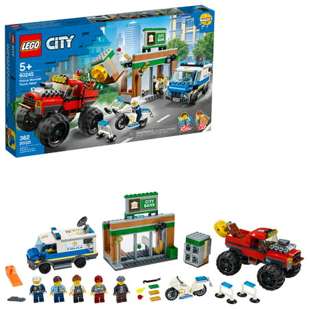 LEGO City Police Monster Truck Heist Building Set for Kids 60245