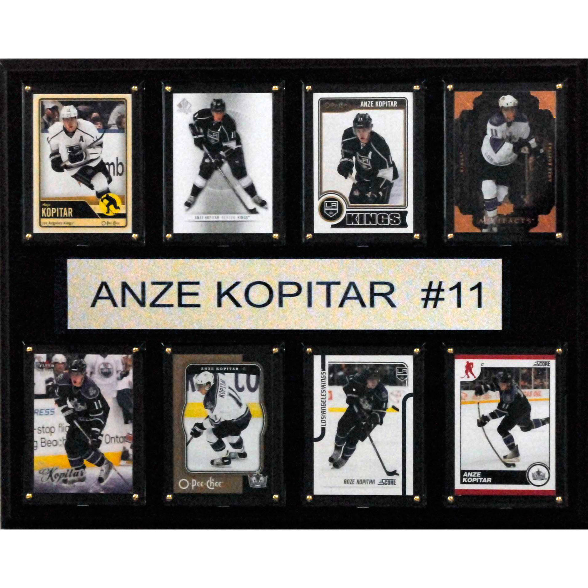 C&I Collectables NHL 12x15 Anze Kopitar Los Angeles Kings 8-Card Plaque