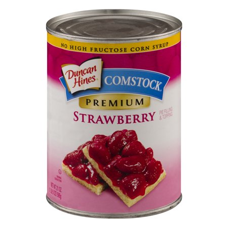 (2 Pack) Comstock Premium Strawberry Pie Filling Or Topping, 21 oz