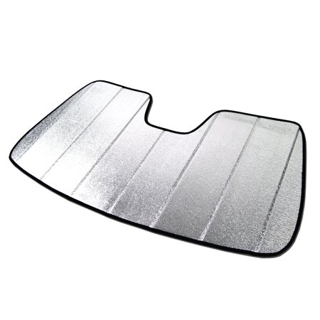 TuningPros SS-066 Custom Fit Silver and Grey Windshield Sun Shade Heat Shield For 1996-2019 Chevrolet Express Van 1500-3500 - 1 pcs Set SunShade Chevrolet Chevy Express 1500 2500 3500 96 97 98 99 00