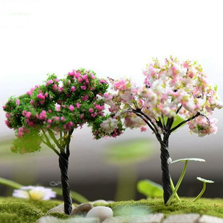Girl12Queen Miniature Tree Fairy Garden Decor Dollhouse Plant Pot Figurine DIY Craft - Faith Craft