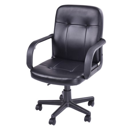 Costway Ergonomic Pu Leather Midback Executive Computer Best Desk Task Office Chair