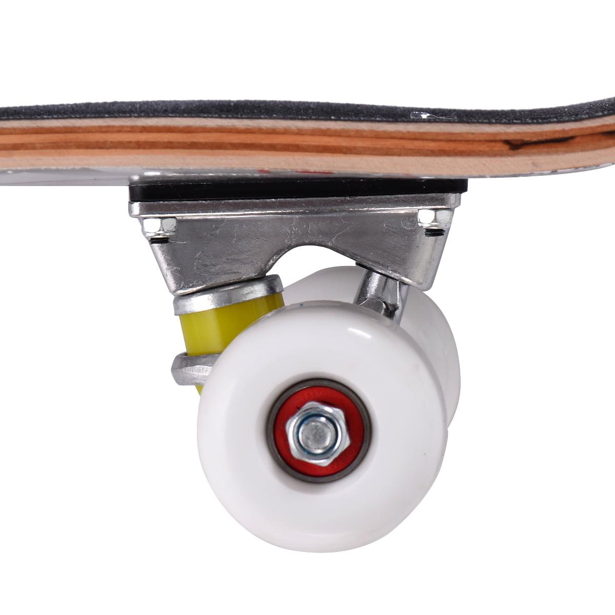 Costway 31'' x 8'' Professional Skateboard Longboard ...