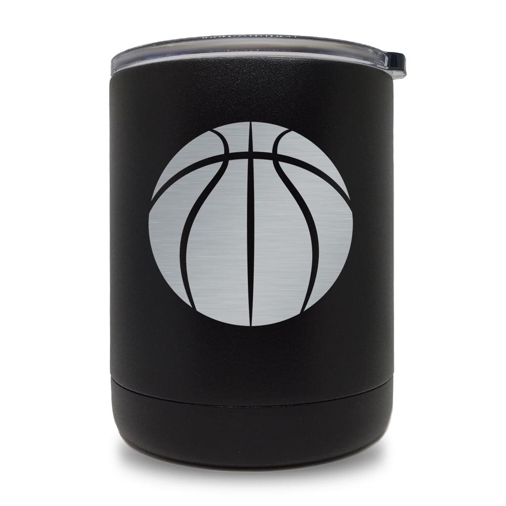 10oz Tumbler Mug, Basketball Ball (Black)