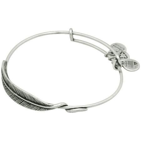 Quill Feather Wrap (Rafaelian Silver Finish) Bracelet Rubber New England Patriots Bracelets