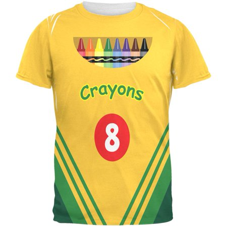 Halloween Crayon Box Costume All Over Adult T-Shirt - Halloween Shirts For Adults