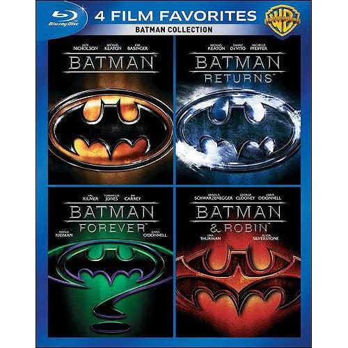 4 Film Favorites: Batman Collection Batman   Batman Returns   Batman Forever   Batman & Robin (Blu-ray)... by