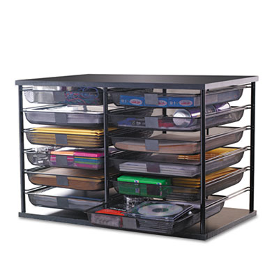 Rubbermaid 12-Compartment Organizer with Mesh Drawers, 23...