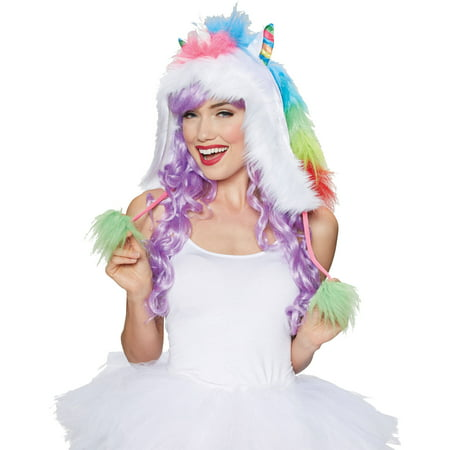 Unicorn Rainbow Hood Kit Adult Halloween Accessory - Adult Unicorn Halloween Costume