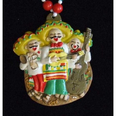 Mariachi Singing Mexican Band Mardi Gras Bead Necklace Spring Break Cajun Carnival Festival New Orleans Beads, Colorful Authentic Premium Mardi Gras Bead