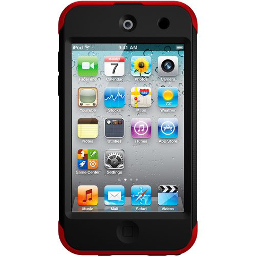 OtterBox Commuter Series Carrying Case for iPod touch 4G, Red/Black