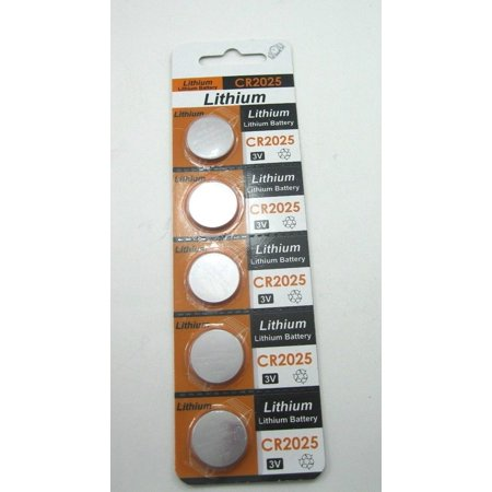 Cr2025 Lithium Button Cell Batteries - 5pcs/pack CR2025 Lithium 3-Volt Button Cell Battery