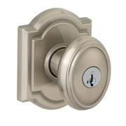 Baldwin Carnaby Keyed Entry Knob featuring SmartKey® in Satin Nickel