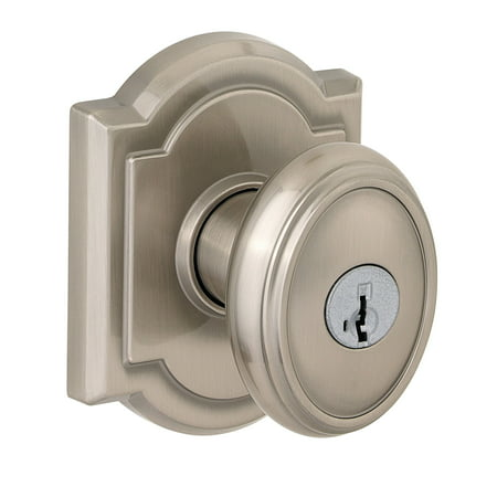 Baldwin Carnaby Keyed Entry Knob featuring SmartKey® in Satin Nickel Baldwin Entry Locks