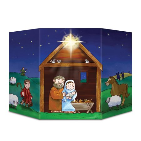 Christmas Stand In Cutouts.Pack Of 6 Christmas Nativity Scene Stand Up Cutouts Decorations 37
