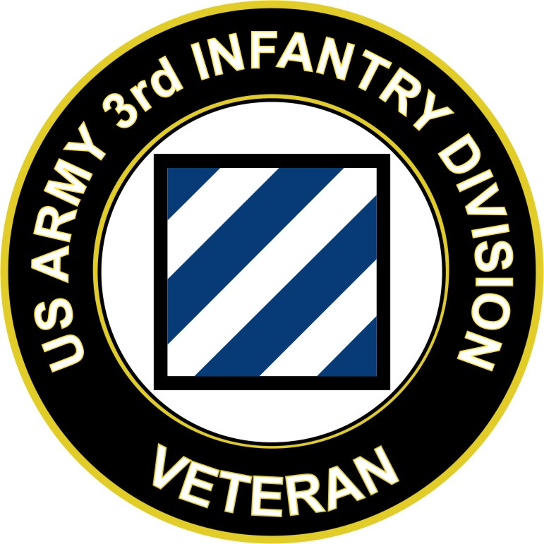 3.8 Inch U.S. Army Veteran 3rd Infantry Division sticker decal