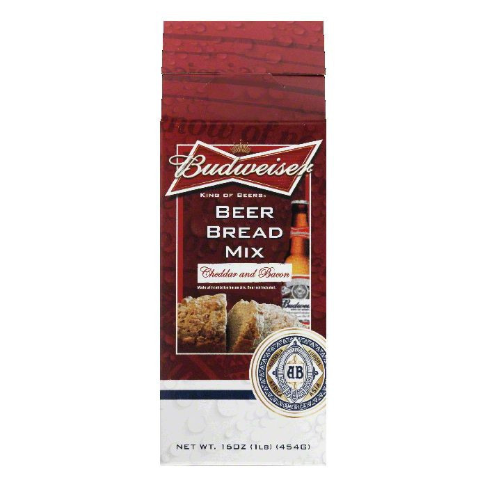 Budweiser Cheddar and Bacon Beer Bread Mix, 16 Oz (Pack of 6)