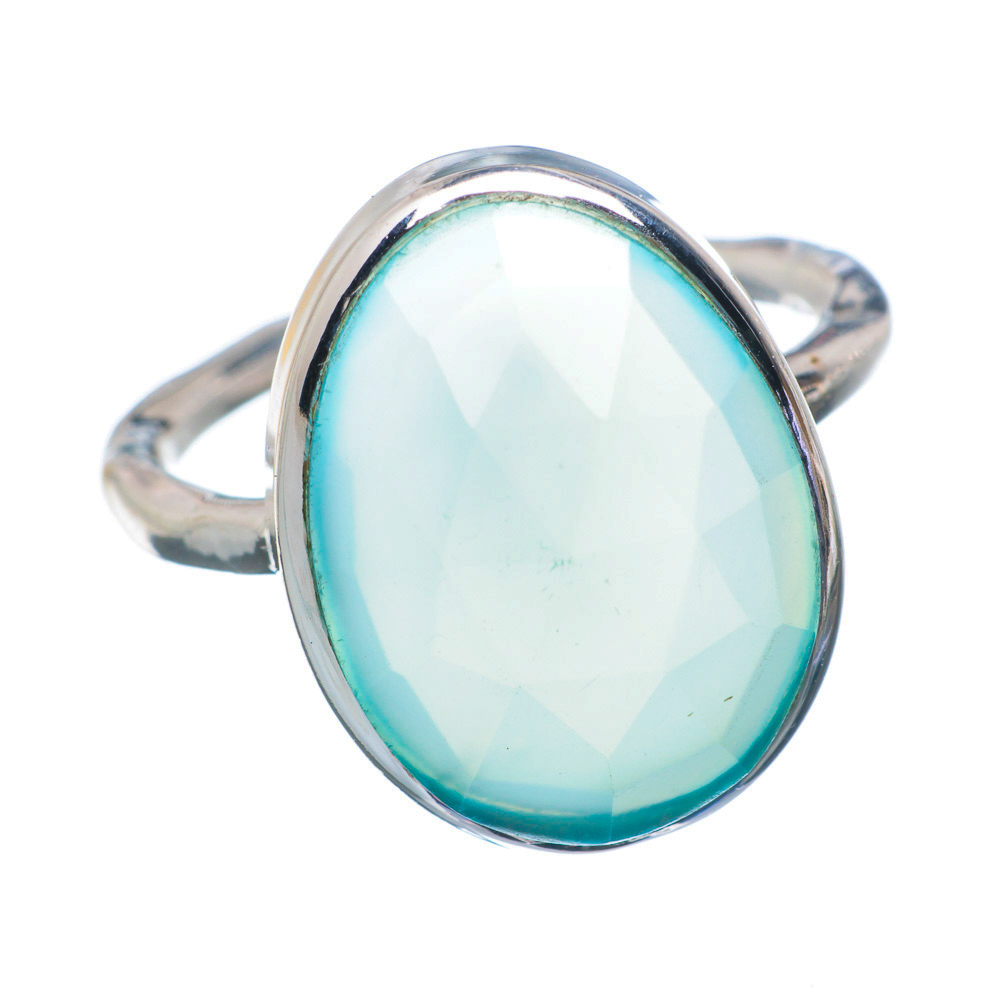 Ana Silver Co Aqua Chalcedony 925 Sterling Silver Ring Size 6.5 Handmade Jewelry RING895970 by Ana Silver Co.