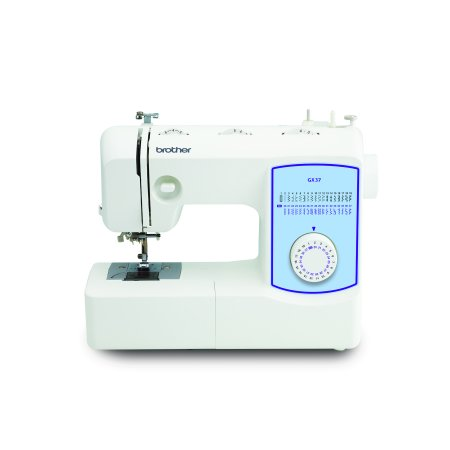 Brother GX37 Lightweight, Full-Featured Sewing Machine with 37 Built-In Stitches & 1-Step Auto-Size Buttonhole, 1 Each ()