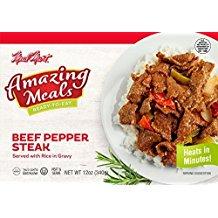 Meal Mart Amazing Meals Beef Pepper Steak 12 Oz. Pk Of (12 Ounce Ribeye Steak)