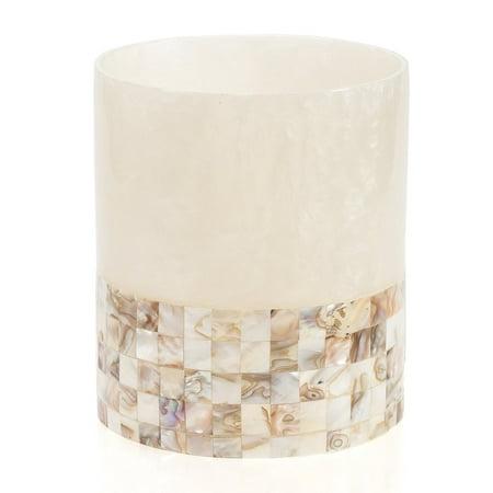Milano Bathroom Trash Can 8 X 8 X 9 25 Decorative Wastebasket