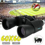 5000M Day/Night Zoom HD 60x60 Telescope Travel Binoculars Hunt +Case Sightseeing