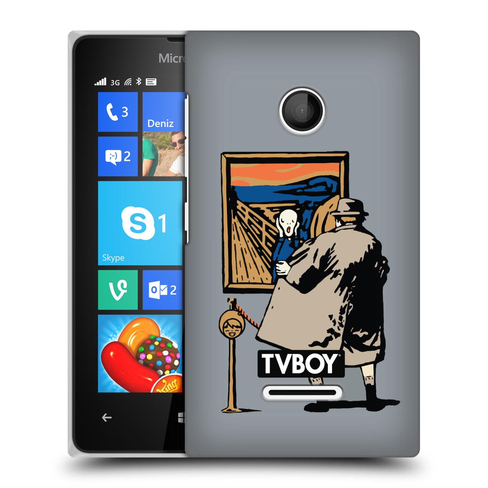 OFFICIAL TVBOY URBAN CELEBRITIES HARD BACK CASE FOR MICROSOFT PHONES