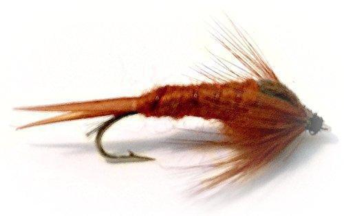 Sow Bug Nymph Wet  Fly Assortment Brown 1 Dozen