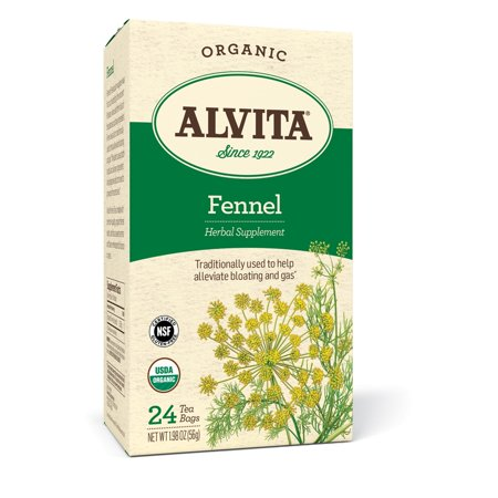 Alvita Organic Fennel Tea Bags, 24 Ct