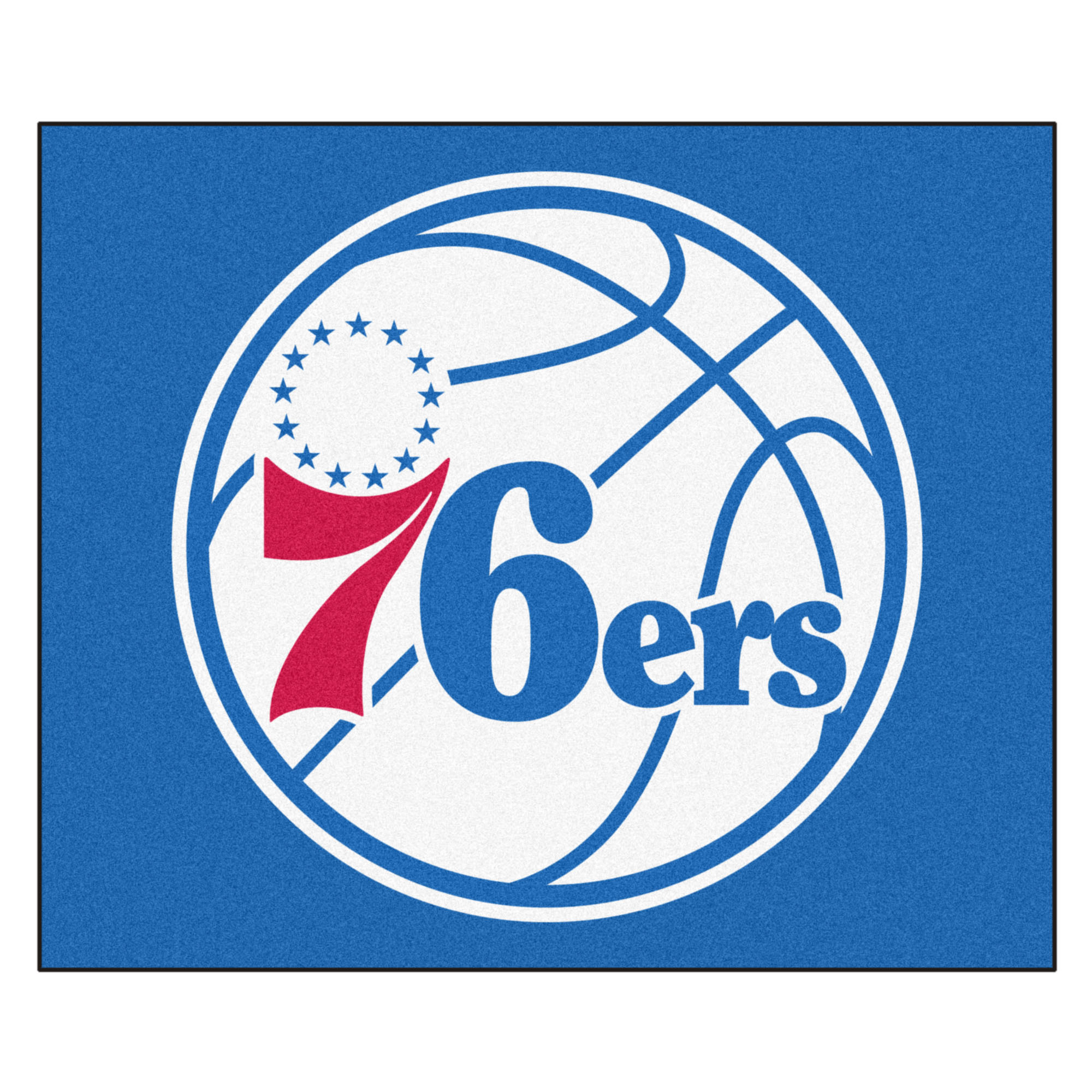 NBA Philadelphia 76ers Tailgater Mat Rectangular Outdoor Area Rug