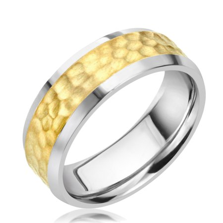 1556126d461dc3 Pristine J - Men Women 14K White Gold & Yellow Gold Two Tone 6mm ...