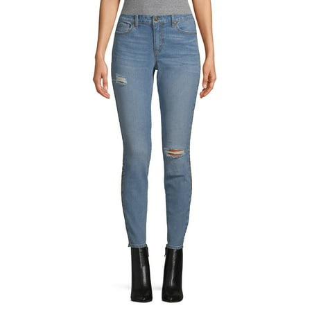 Scoop Ankle Skinny Jean with Leopard Stripe Women's Now $7.50 (Was $29.95)