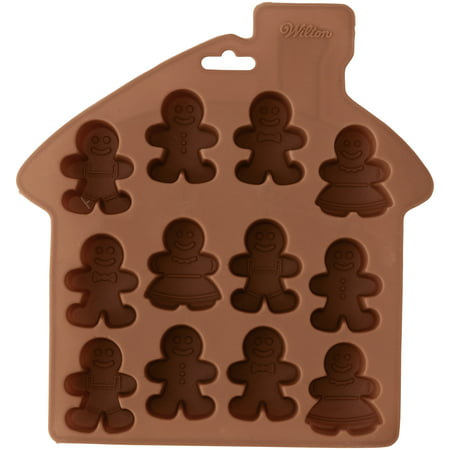 Wilton Silicone Gingerbread People Bite-Size Treat Mold, 12-Cavity