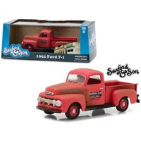 """1952 Ford F-1 Pickup Truck Red """"Sanford & Son"""" (1972-1977) TV Series 1/43 Diecast Model Car by Greenlight"""