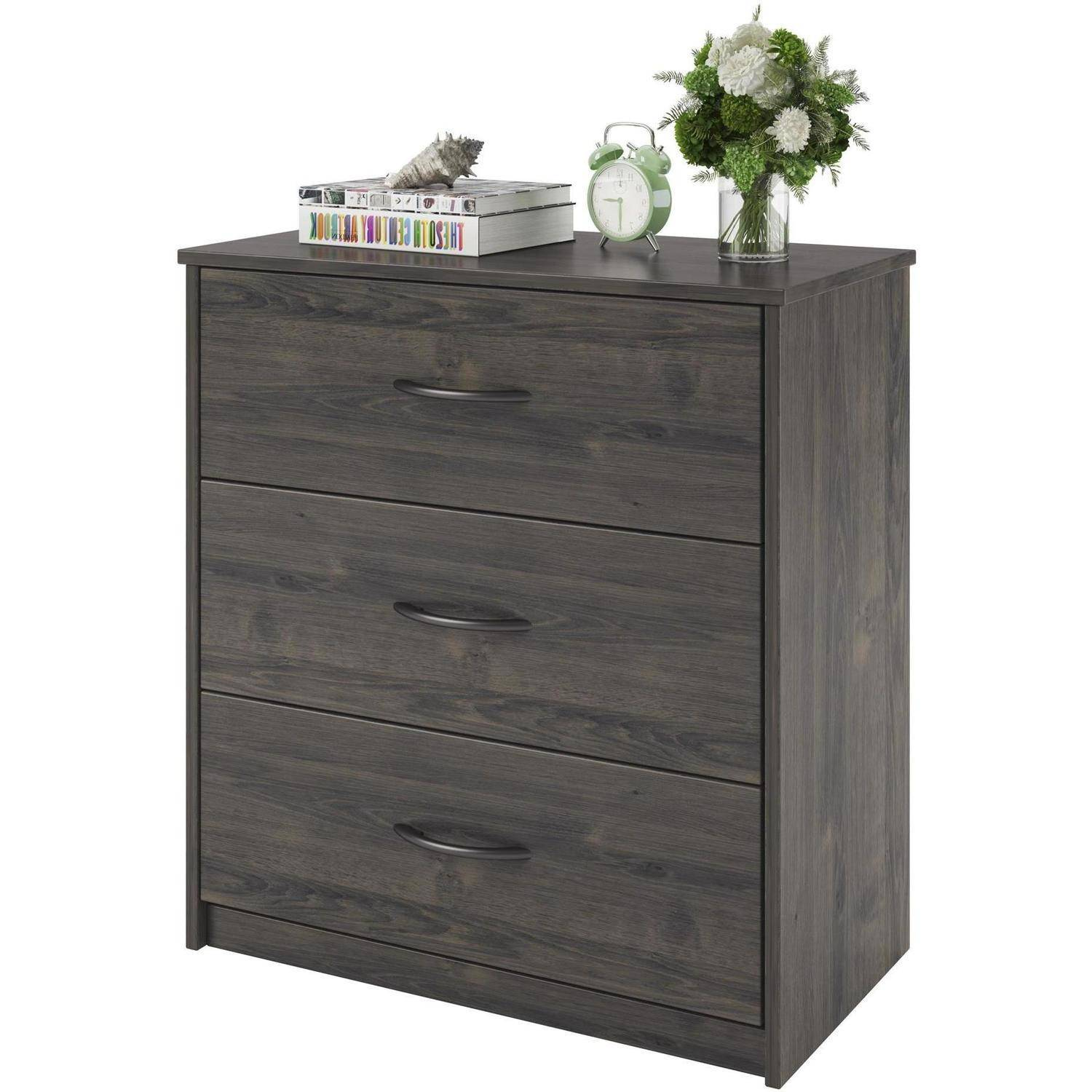 modern bedroom dresser 3 drawer dresser chest bedroom furniture black brown white 12479