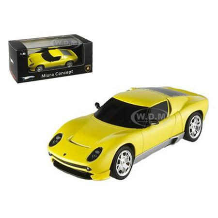 Lamborghini Miura Concept Yellow Elite Edition 1 43 Diecast Model