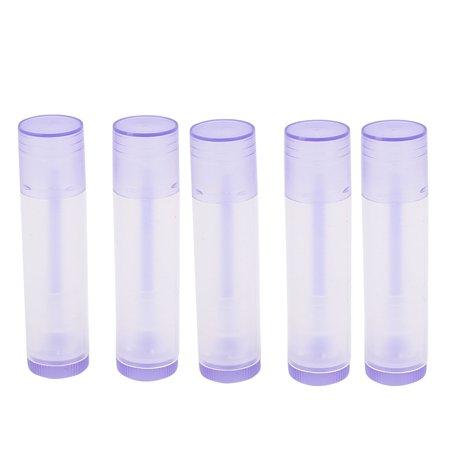 Cosmetic Plastic DIY Lip Balm Tube Cap Lipstick Container Bottles Purple