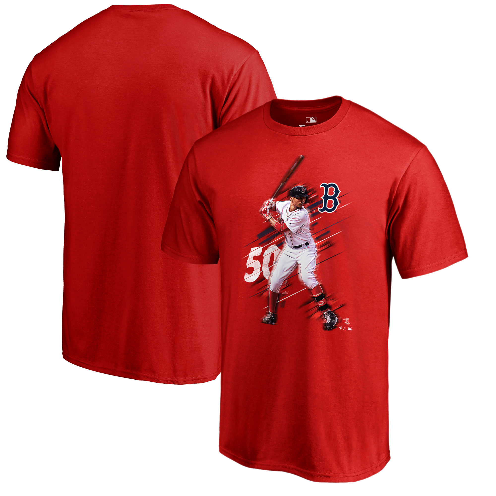 Mookie Betts Boston Red Sox Fanatics Branded Fade Away T-Shirt - Red