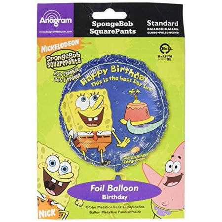 Anagram International Spongebob Squarepants Birthday Packaged Party Balloons, 18