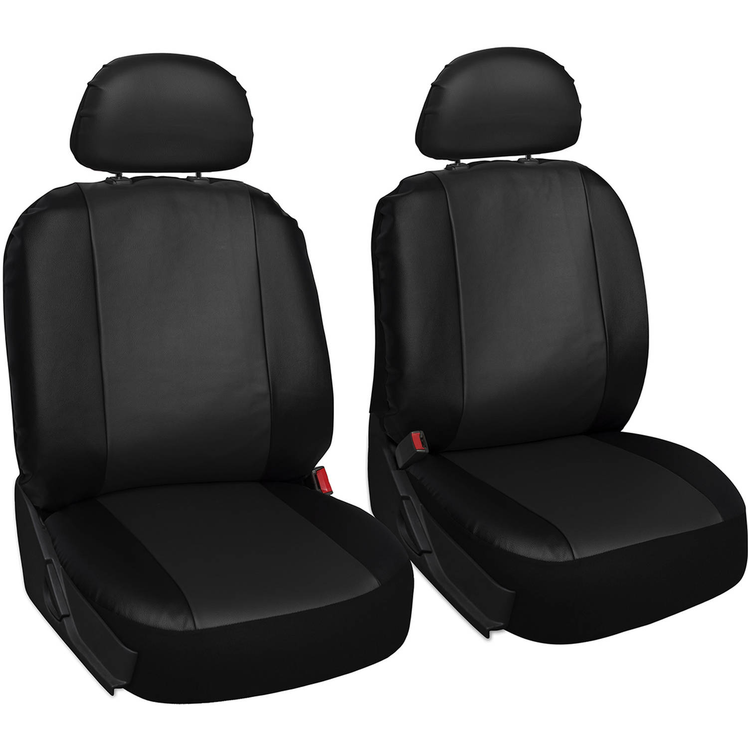 Oxgord Faux Leather Bucket Seat Cover Set for Car/Truck/Van/SUV, Airbag Compatible