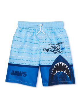 Jaws Boys 4-7 Swim Trunks