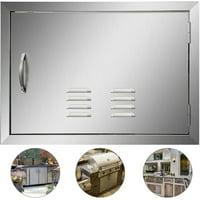 """VEVOR 17""""HX24""""W Outdoor BBQ Kitchen 304 Stainless Steel Single Access Door"""