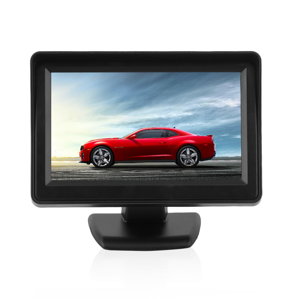 4.3inch TFT LCD Monitor+Night Vision Car Reverse Backup Rear View Camera