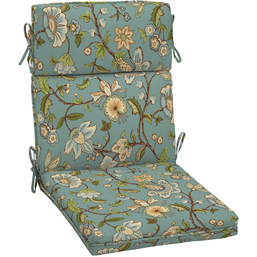 Better Homes and Gardens Dining Chair Outdoor Cushion, Blue Jacobean