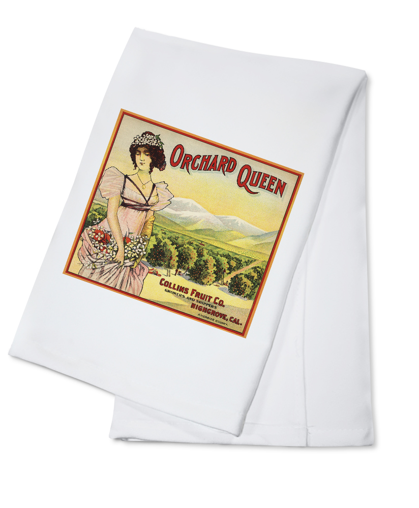 Orchard Queen Brand Highgrove, California Citrus Crate Label (100% Cotton Kitchen Towel) by Lantern Press