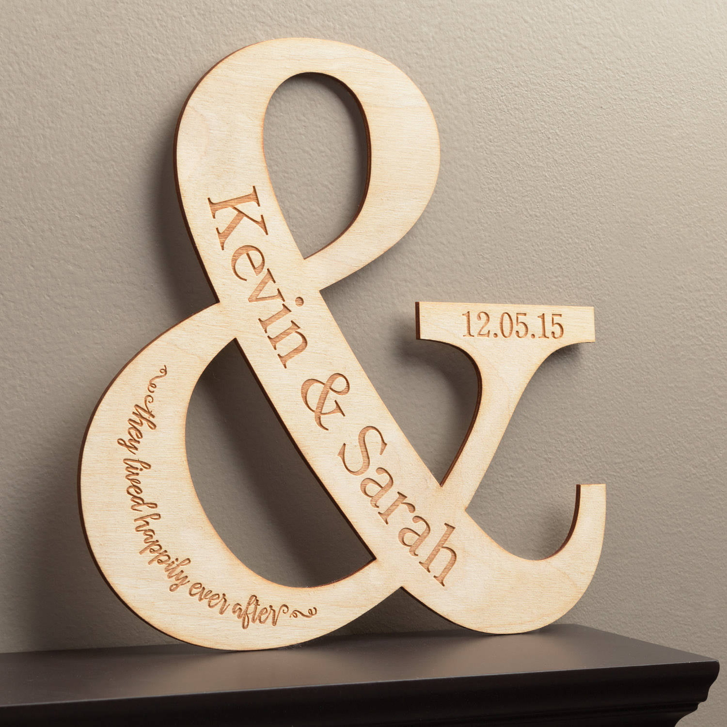 Personalized 'And They Live Happily Ever After' Wood Keepsake